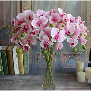 5pcs Real-touch Artificial Flowers Orchids Home Decor Wedding Party Gift