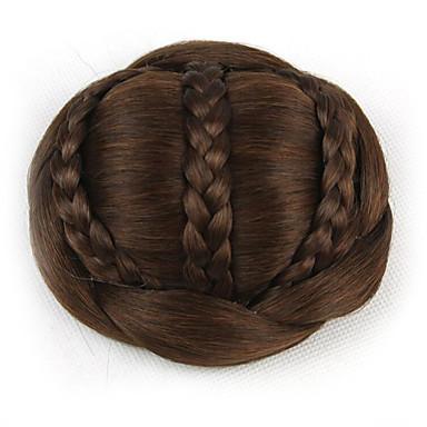 chignons Classique / Chic & Moderne Chignon Updo Cheveux Synthétiques Pièce de cheveux Extension ...