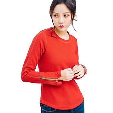 Women's Nylon Running Shirt Long Sleeve Yoga Workout Fitness Gym Workout Exercise Breathability Sportswear Sweatshirt Top Activewear Inelastic / Cotton