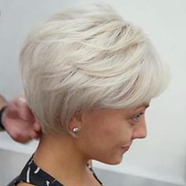 Cheveux humains Perruque Ondulation naturelle Coupe Dégradée Coiffures courtes 2020 Ondulation ...