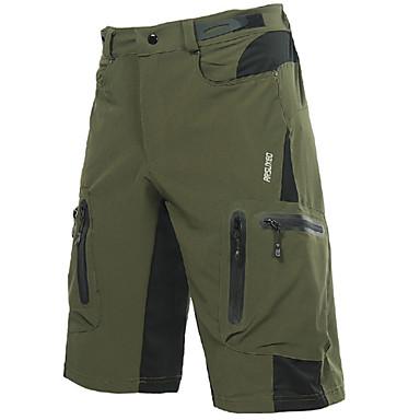 Arsuxeo Men's Cycling MTB Shorts Polyester Spandex Bike Shorts Baggy Shorts MTB Shorts Breathable Quick Dry Waterproof Zipper Sports Dark Gray / Orange / Dark Green Mountain Bike MTB Road Bike Cycling