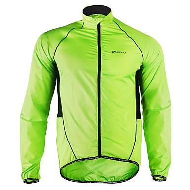 Nuckily Men's Cycling Jacket Winter Polyester Bike Jacket Windbreaker Raincoat Waterproof Windproof Breathable Sports Solid Color Patchwork White / Black / Yellow Mountain Bike MTB Road Bike Cycling