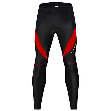WOSAWE Men's Women's Cycling Pants Winter Spandex Bike Pants / Trousers Leg Warmers / Knee Warmers Pants 3D Pad Reflective Strips Sports Patchwork Black / Red / Black / White Mountain Bike MTB Road