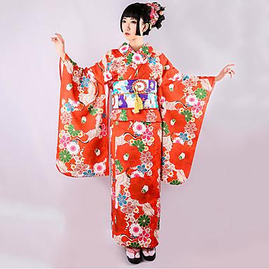 Costume Halloween Geisha.Geisha Adults Women S Cosplay Kimonos Vacation Dress Dress Cosplay Costume Japanese Traditional Kimono For Party Halloween Festival Polyster Halloween Carnival Masquerade Dress Sash Ribbon 7605570 2020 125 99