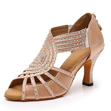 Collar con remolque pumps tacón alto zapato de mujer oro cristal de colores