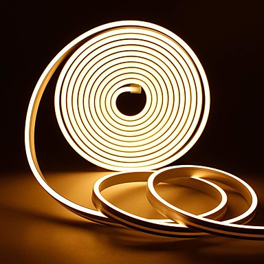 65ft LED Strip Neon Lights 2835 SMD Flexible Silicone Tube Waterproof 12V Decor