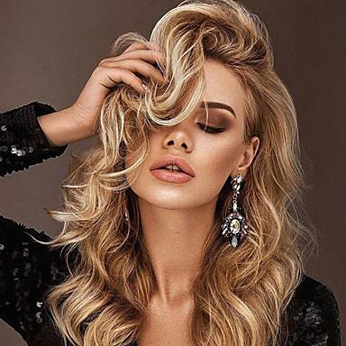 Synthetische Perücken Locken Asymmetrischer Haarschnitt ...