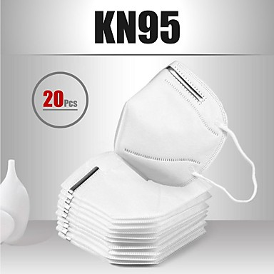 20 pcs Face cover KN95 Masks Respirator Melt Blown Fabric Filter Men's Women's White / Filtration Efficiency (PFE) of >95%