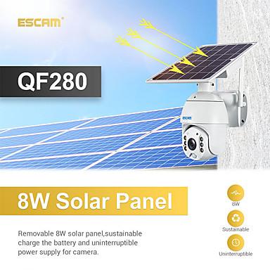 ESCAM 1080P 2MP Solar Powered WiFi PIR Sensor CCTV Security Camera TF Card Slot