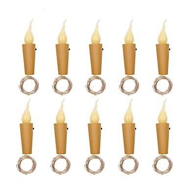 2M LED Candle Cork 20 Lights String Bottle Stopper Lamp Light Home Party Decor