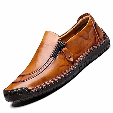 men's casual leather shoes fashion loafer breathable flat