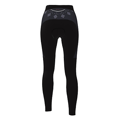 21Grams Women's Cycling Tights Winter Polyester Bike Tights Padded Shorts / Chamois Pants Breathable 3D Pad Quick Dry Sports Solid Color Black Mountain Bike MTB Road Bike Cycling Clothing Apparel