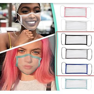Transparent Mask Breathable Deaf-mute Lip Language Mask Men and Women Solid Color Masking Adult Solid Color Edging Full Transparent Mask