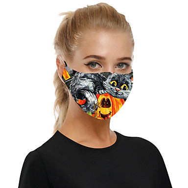 Halloween Dust-proof Breathable Cloth Mask for Men and Women with Insertable Filter