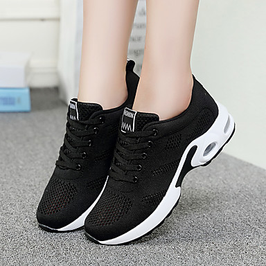 women's trainers athletic shoes wedge heel round toe