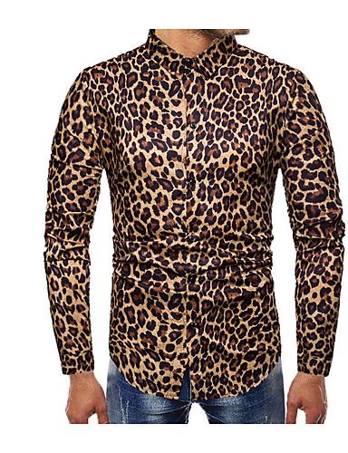 leopard skjorta herr