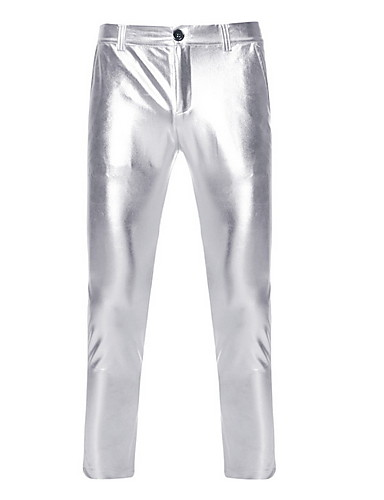 Men's Simple Wedding Tights Pants - Lolita Polyester Black M