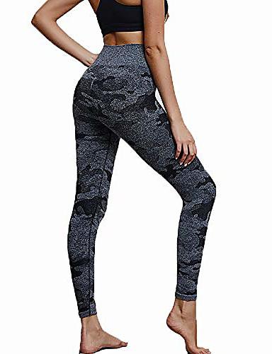 women's high waisted leggings seamless tight sexy yoga pants tummy control workout leggings sports trousers khaki