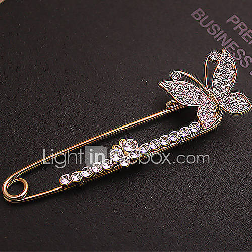 Women's Full Zircon Butterfly Brooch - EUR € 4.12